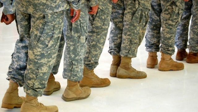 Soldiers in line