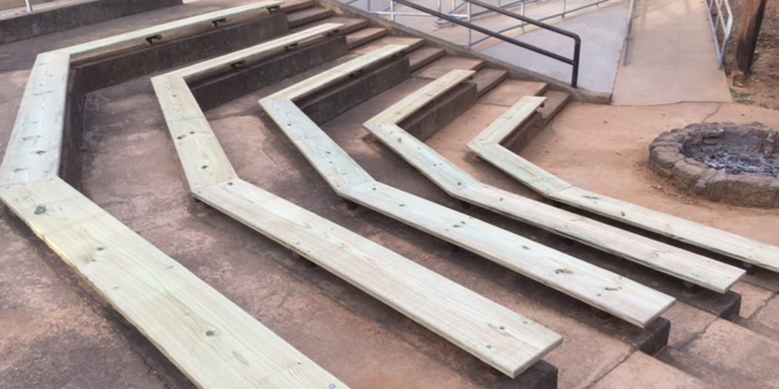 Boy Scout rebuilds seating at Rotary Park amphitheater
