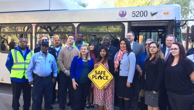 Phoenix partnered with Tumbleweed Center for Youth Development and multiple transit companies to expand the Safe Place initiative to include city buses.