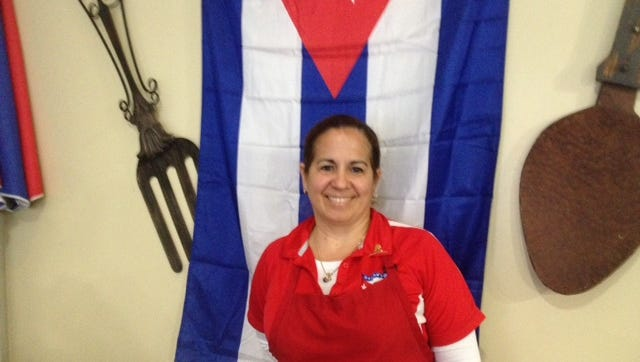 Marialys Gonzalez left Cuba for the United States 10 years ago and runs Havana's Pilon restaurant in Downtown Memphis.