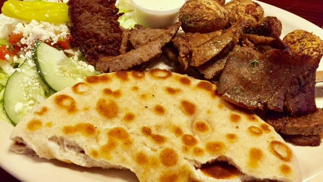 The Mad Greek International Cafe offers tasty multi-ethnic cuisine.