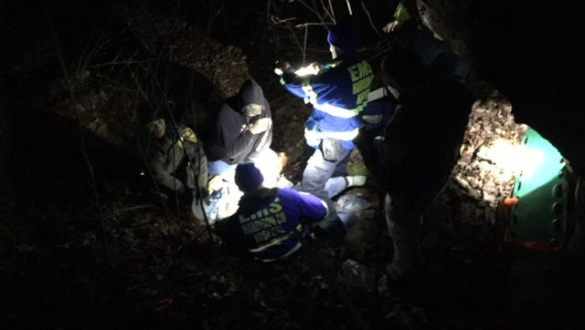 Ronald Harris, 59, of Corydon, Ind., was rescued on Wednesday, Dec. 7, 2016 after an apparent fall in the in the Harrison-Crawford State Forest.