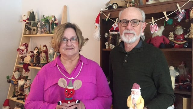 Terri and Dave Remy have a collection of 250 Santas gathered over the past 30 years.