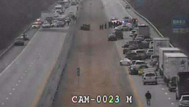 A man was taken into custody after a police chase on Interstate 71 before Zorn Ave.