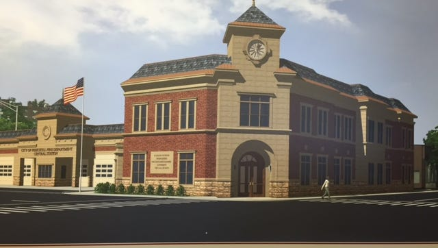 Rendering of the Peekskill Central Firehouse, which is expected to be completed in 2018.