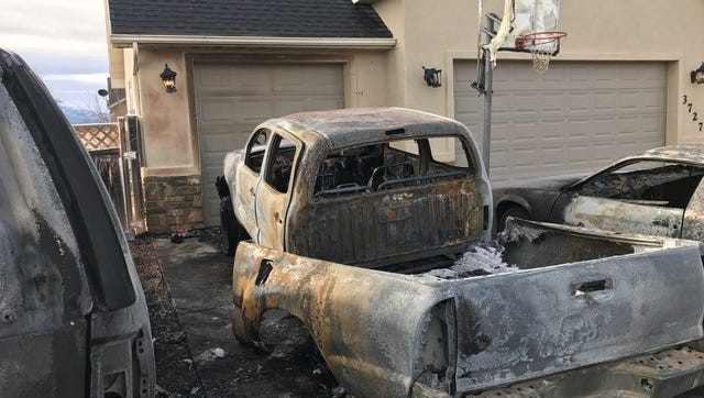 Six vehicles were damaged following a string of vehicle arsons Tuesday, Jan. 10.