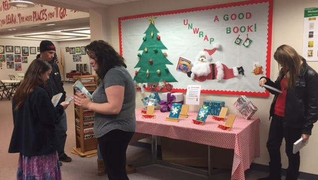 """Delsea Regional High School's Media Center rolled out a new initiative in December with its """"book gifts"""" much to the surprise of students."""