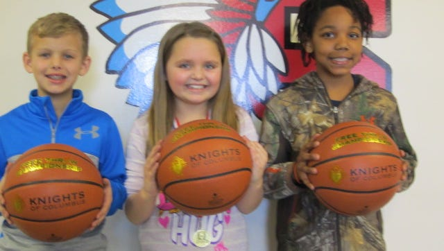 (l to r) Garret Shouse, 9-year-old; Kierstyn Holt, 9-year-old; Aniya Davis, 10-year-old and (not pictured) Jack Maloney, 11-year-old from Sturgis Elementary School.