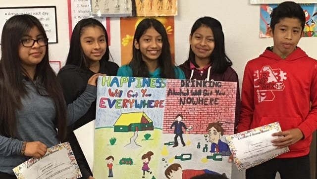 Students from Indiantown Middle School took first place last year in the 2016 youth alcohol prevention poster contest. Visitors to the Martin County Fair can stop by the Tykes & Teens booth to vote for this year's winners.