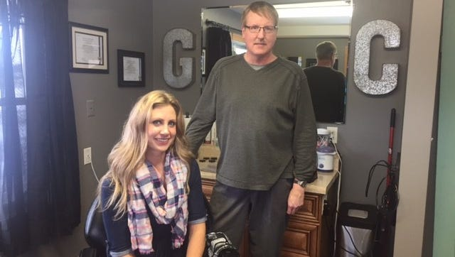 Maggie Thiel and Ron Van Der Geest aim to provide quality hair cuts for men.