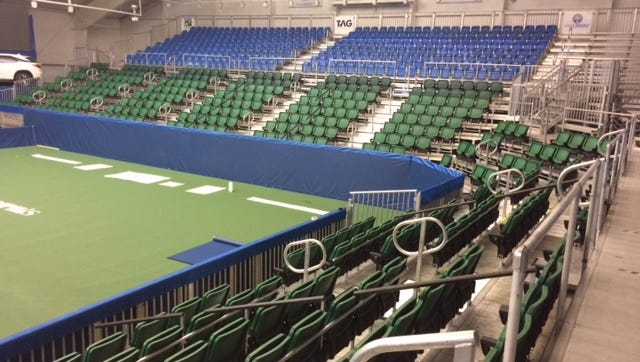 """This year, (tournament owner) GF Sports decided it was time to upgrade the professional look and feel of the structure,"" said Erin Mazurek of The Racquet Club's Stadium Court."
