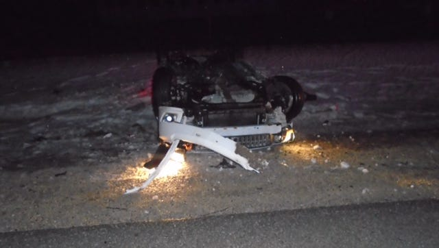 Paul Bertz, 33, of Neosho, was ejected from his sedan on Sunday morning in the town of Rubicon.