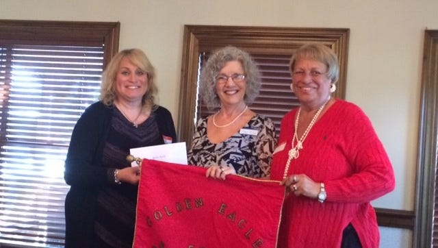 From left: Donna Biggins, President  of GELC; Diane Skelton, Goodnews Out Reach; Pam Ridley, PR Director of GELC
