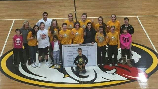The Murphy girls basketball team won this month's Big Smoky Mountain Conference tournament.