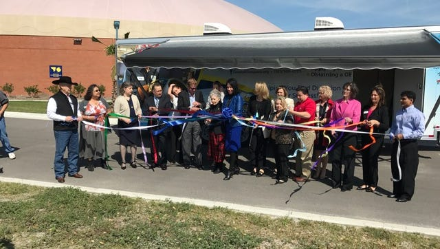 Citizens for Educational Excellence, Del Mar College and Charity League, Inc. hosted a ribbon cutting ceremony for the Coastal Compass Mobile Center Thursday. The event was hosted on the college's west campus.