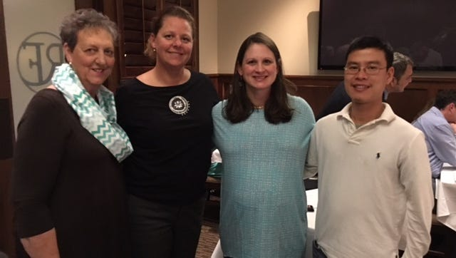 Oconee County Medical Society officers shown from left are Helen Martin, Dr. Aimee Duffy, Dr. Jennifer Mihalik and Dr. Viet Le.
