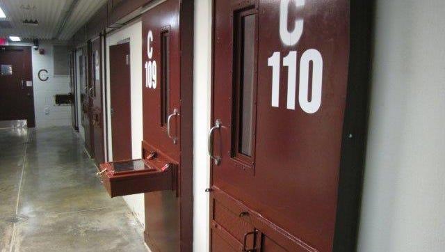 A cell block at Guantanamo.