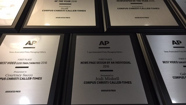 For the second year in a row the Caller-Times won first place for newspaper of the year at Texas APME and two dozen statewide awards for storytelling, video and design work.