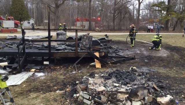 The Brussels-Union-Gardner Fire Department responded to three fires over the weekend, including a seasonal trailer home fire. The trailer home was owned by Christian Johnson.