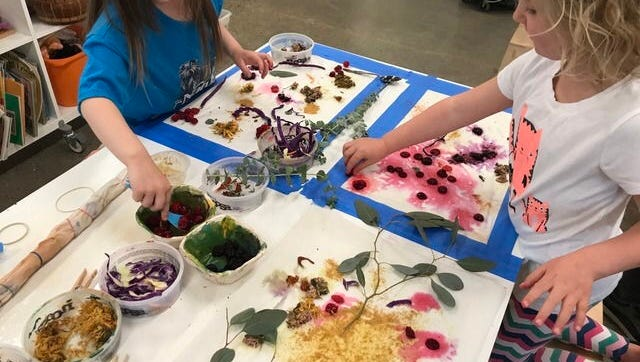 Did you know you can dye fabric with different foods, flowers, plants and more? The list of what you can use is endless.