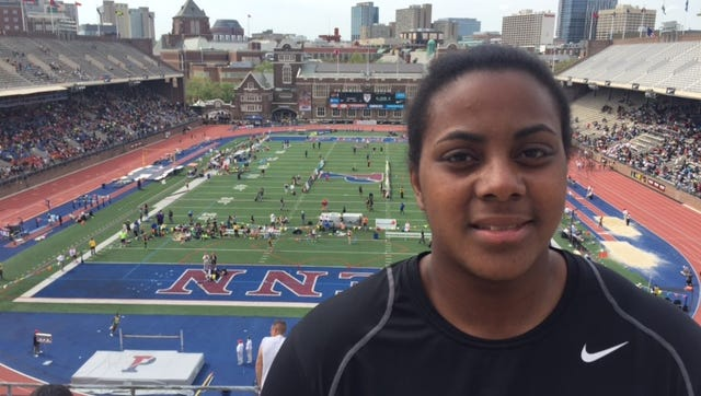 Smyrna senior Myrissa McFolling-Young set a state record in the discus at the Penn Relays.