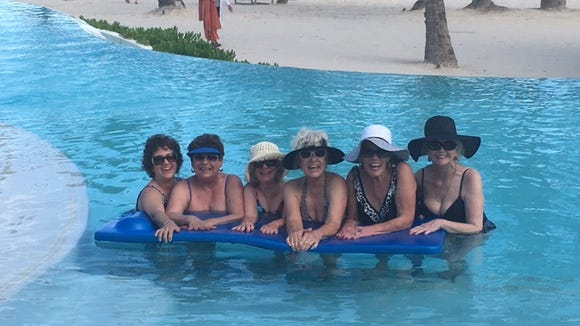 The ladies enjoying their time together in the Dominican