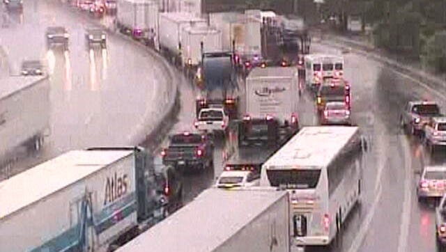 A Trimarc camera shot of I-65 southbound on Friday morning.