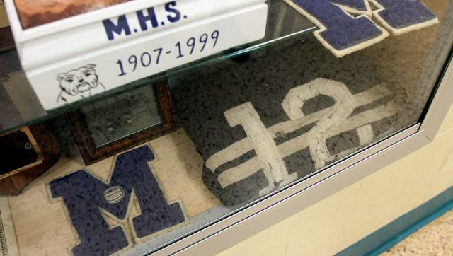 Varsity letters on display at Metuchen High School
