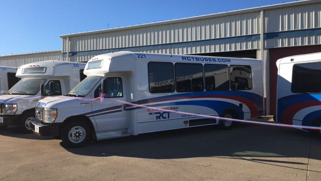 RCT held a ribbon-cutting ceremony Monday morning to showcase five new smaller RCT buses which will be on the road Tuesday.