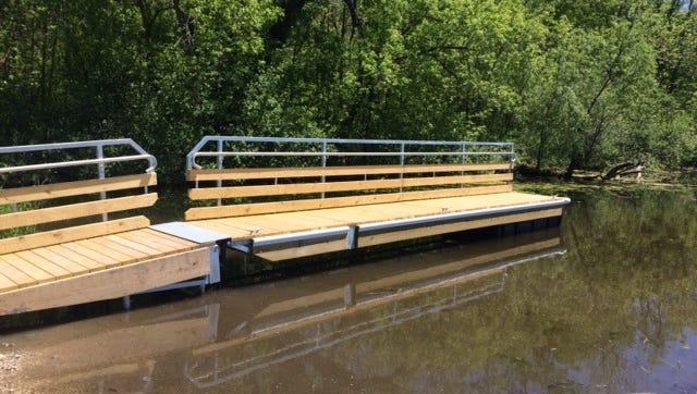 Gerber Lake received a new boat and fishing pier.