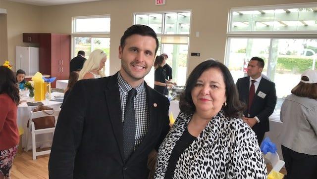 United Way CEO Eric Harrison and Cabrillo CEO Margarita de Escontrias