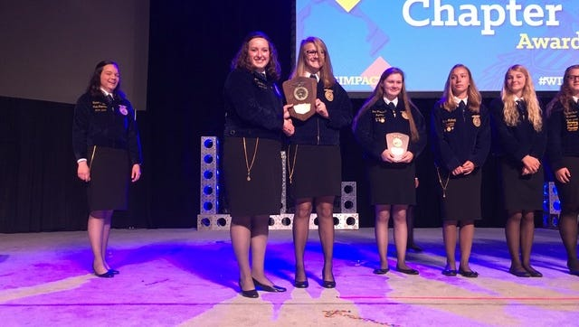 The Waupaca FFA chapter was named the state winner of the National Chapter Award for the second year in a row.
