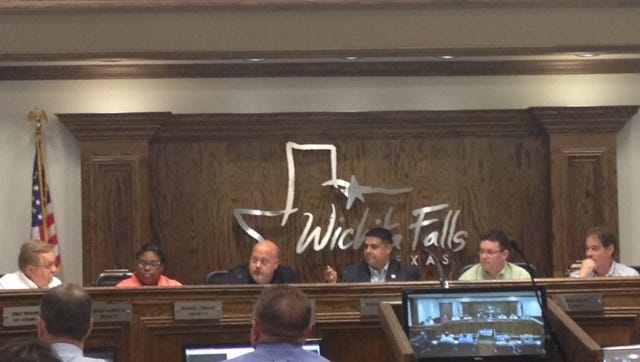 Committee chairman, and Wichita Falls mayor, Stephen Santellana, speaks at the second Downtown Development Steering Committee meeting Monday afternoon.