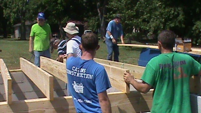 The Uniontown Knights of Columbus recently assisted Wayne Cavins builders in the start-up of the most recent Habitat for Humanity House, located on E Lyon Street.
