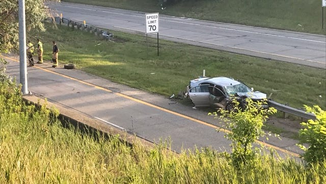 Both sides of U.S. 127 were closed at Grand River Avenue because of a serious crash on Wednesday, July 12, 2017.