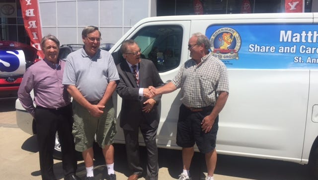 Bob Rohrman Auto Group has donated a van to the St. Matthew 25 Share & Care Soup Kitchen at St. Ann Church in Lafayette.