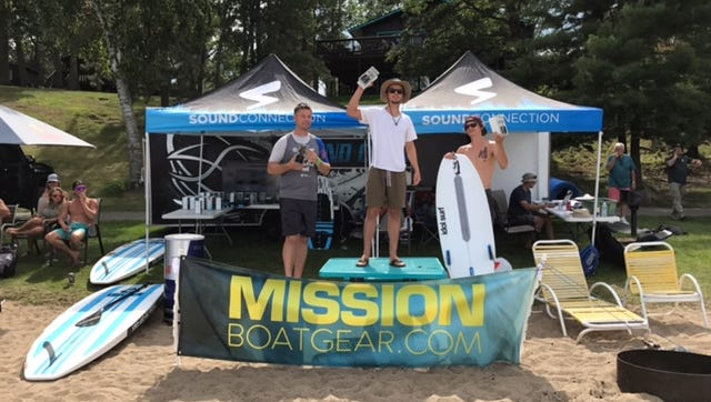 Nick Parros of South Lyon, a Detroit Country Day student, won a surf competition in Minnesota last weekend.