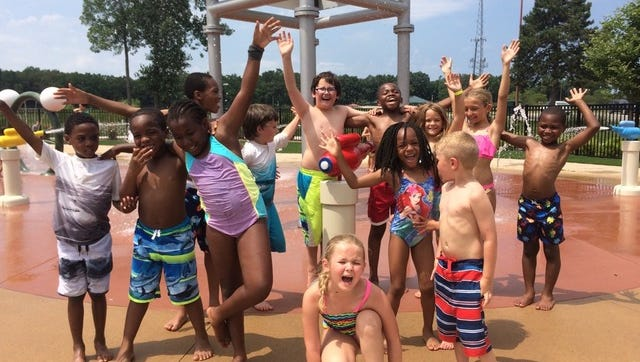 YMCA Campers from Livonia, Garden City, Westland and other surrounding communities took part in some silliness at the H20 Zone.