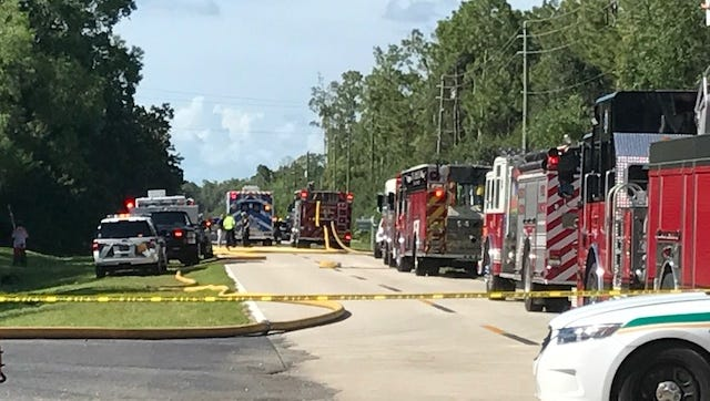 Fire units from multiple departments came to fight a house fire along Ranchette Road in Fort Myers on Sunday.