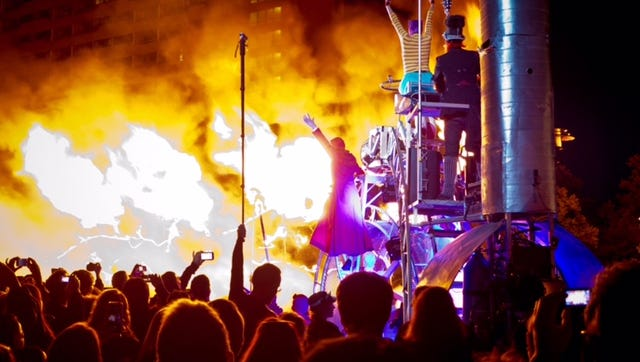 A scene from the 2014 Rochester Fringe Festival.  -