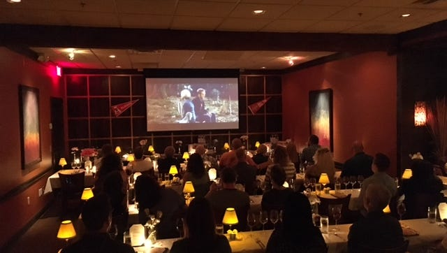 The interior of Seviche during a Dinner and a Movie event
