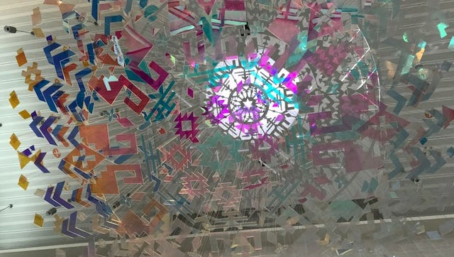 The public art project, Radiance, which hangs at the El Paso International Airport was recently recognized with a commissioned art award.