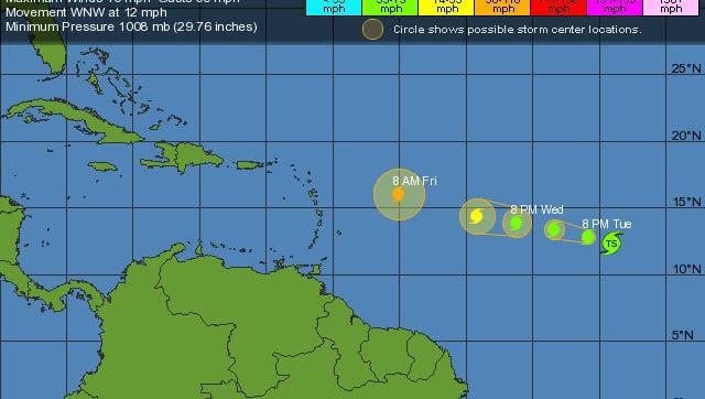 Hurricane Jose forms in the Atlantic.
