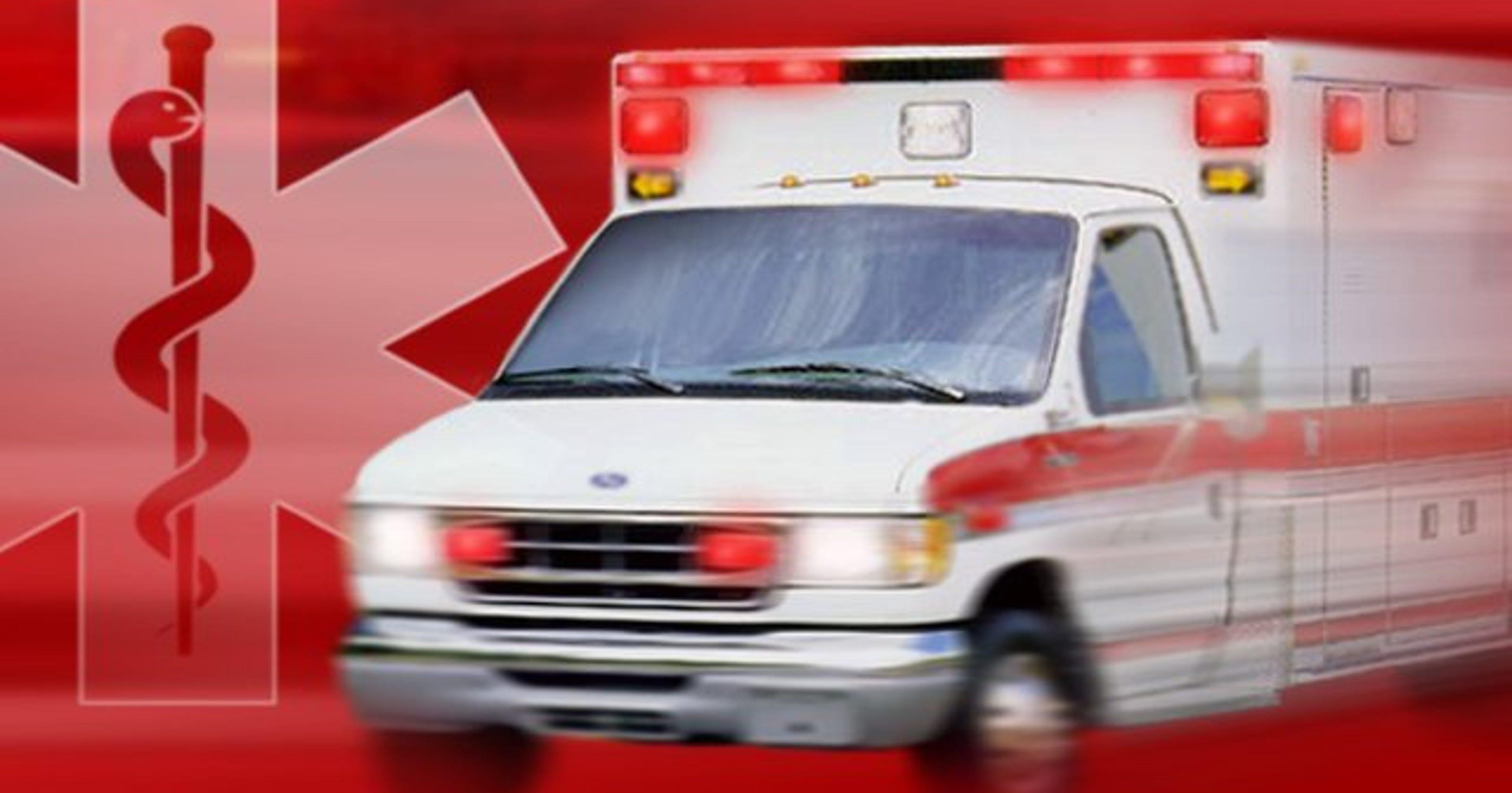 2 paramedics injured in ambulance rollover crash
