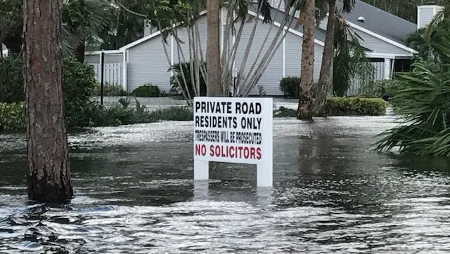 Flooding from Hurricane Irma along Island Park Road U.S. 41 in south Lee County.