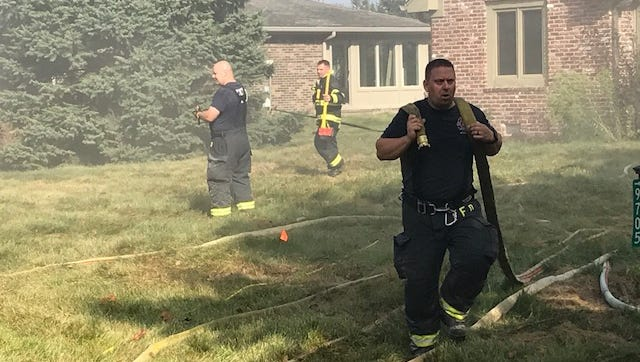 Fishers fire department trains at a subdivision scheduled to be demolished.