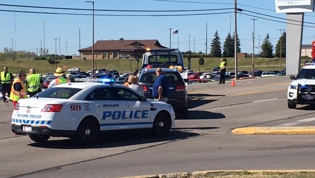 Ontario police handle a crash in this News Journal file photo.