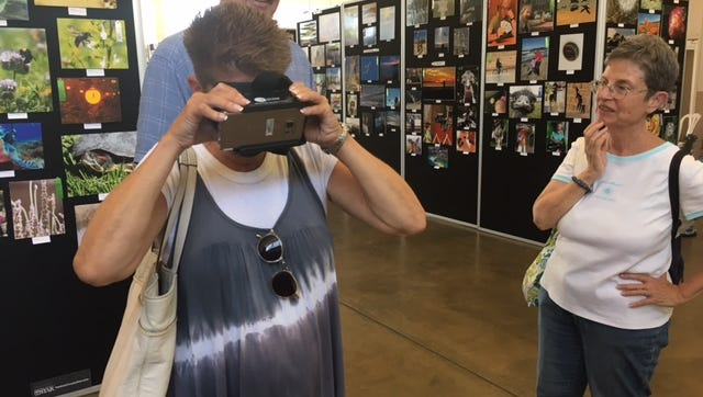 Ventura County Fair attendees had a chance to try virtual reality at the fairgrounds.