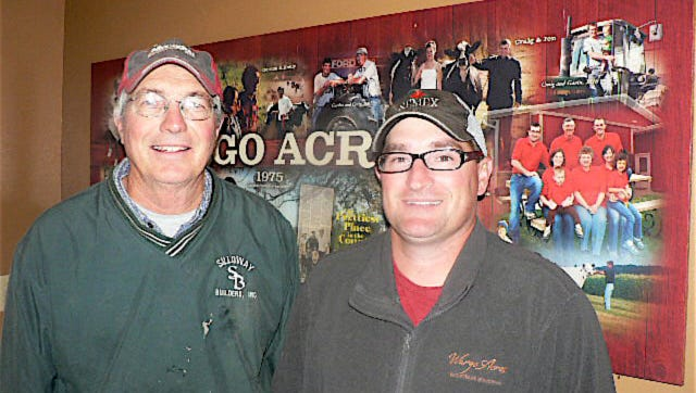 Gordon (l) and Craig Carncross are the second and third generations at Wargo Acres.