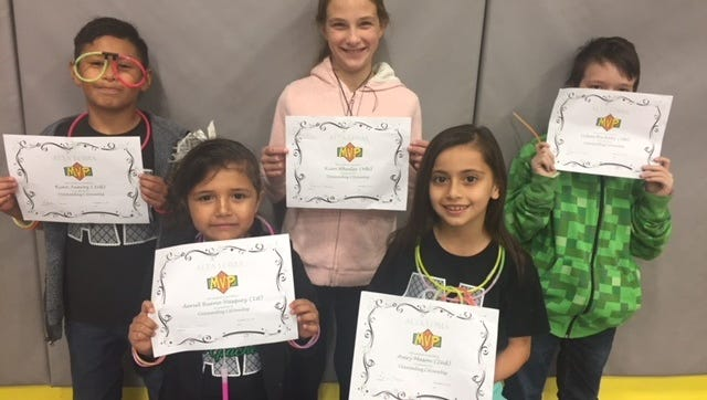 Ryan Juarez, Rian Wheeler, Dylan Huckaby, Aeriel Bueno-Vasquez, and Avery Mason were recognized as Alta Loma Elementary School's Big Chiefs for the month of October for outstanding citizenship.